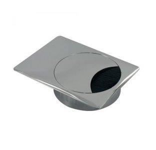 Kabeldoorvoer Vierkant Metaal ALU-Look 60 mm