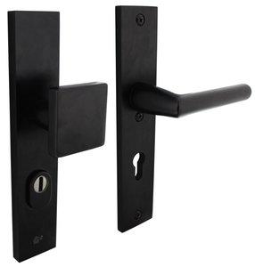 Veiligheidsbeslag rechthoekig met kerntrek beveiliging greep/kruk SKG*** PC55 Aluminium Zwart