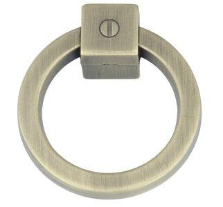 Ringgreep vast 60 mm brons antiek