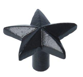 Knop Ster IJzer zwart 39 mm