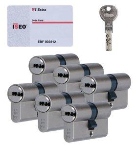 Set van 6 Veiligheidscilinders 30/30 Iseo R7 SKG***