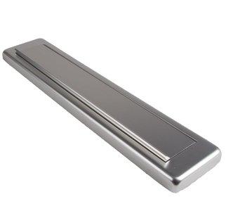 AMI Briefplaat Comfort Buitendraaiend met veer aluminium geanodiseerd F1