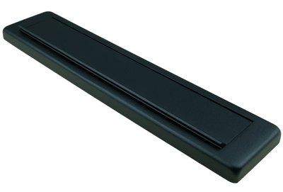 AMI Briefplaat Comfort Buitendraaiend met veer aluminium Zwart