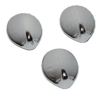 Handdoekhaakjes kunststof zilver