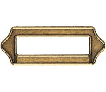 Etikethouder brons 64 mm