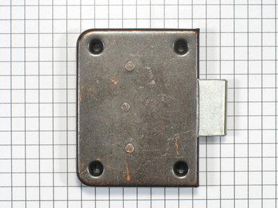 Opdekslot brons penmaat 25 mm (zonder sleutel)