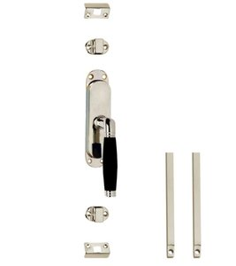 Set kruk-espagnolet rechts Ton 222 inclusief stangenset 2x 1250mm nikkel/ebbenhout