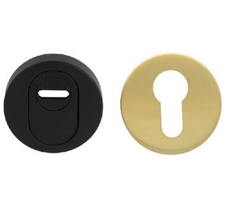 Veiligheid-Rozet Met Kerntrekbeveiliging Buiten Zwart/Binnen Goud
