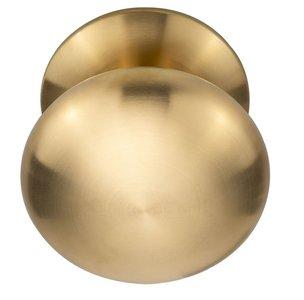 Voordeurknop BASIC LB65V Vast op Rozet PVD mat goud