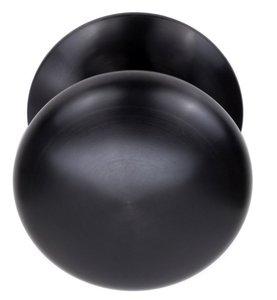 Voordeurknop BASIC LB65V Vast op Rozet PVD Gunmetal