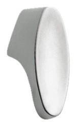 Knop ovaal Chroom Mat 30 mm