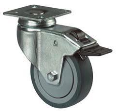 Zwenkwiel rond 75 mm met rem