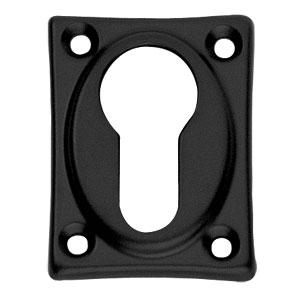 PC-plaatje vierkant verlengd mat zwart