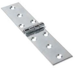 Klepscharnier blank verzinkt 22x60 mm