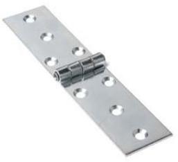 Klepscharnier blank verzinkt 23x80 mm
