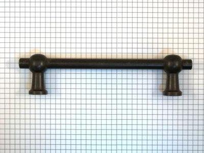 Dubbele T-greep ijzer geroest h.o.h. 128 mm