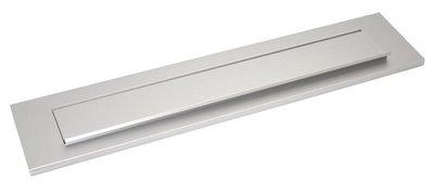 briefplaat aluminium rechthoekig gepolijst