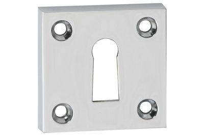 2 Sleutelplaatjes vierkant chroom