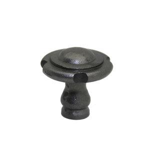 Knop motief ijzer Grijs 34 mm