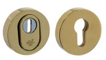 SKG3 Veiligheid-rozet rond met kerntrek beveiliging sunset (PVD)