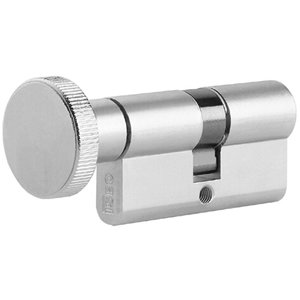 Dubbele knopcilinder 35/45 nikkel