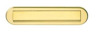 Briefplaat ovaal met klep/regenrand sunset (PVD)