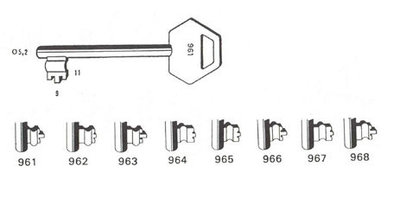 Sleutel 964 Lips BR