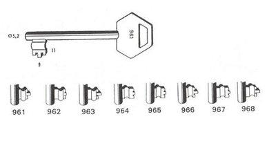 Sleutel 967 Lips BR
