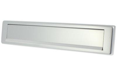 Briefplaat aluminium F1 met tuimelklep vierkant
