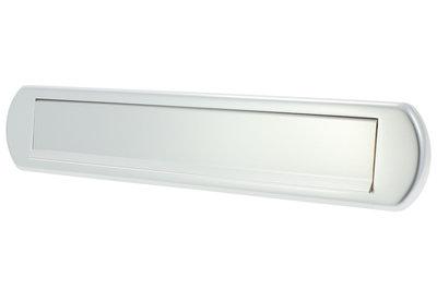 Briefplaat aluminium F1 met tuimelklep ovaal