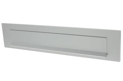 Briefplaat aluminium F1 met tuimelklep
