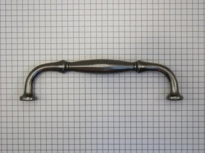 Vaste rustieke handgreep ijzer blank 128 mm