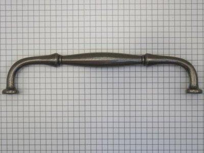 Vaste rustieke handgreep ijzer blank 160 mm