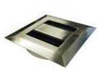 Kabeldoorvoer Vierkant Metaal RVS-Look 80 mm