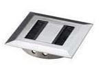 Kabeldoorvoer Vierkant Metaal ALU-Look 80 mm