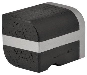 Meubelknop PIET BOON PB22M Mat RVS/Eikenhout Zwart 22 mm