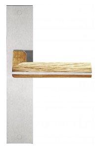 Deurkruk op schild Toiletsluiting PIET BOON PBL22P236WC Mat RVS/Eikenhout