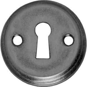 Sleutelplaatje schroefgat oud grijs