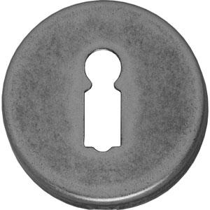 Sleutelplaatje rond verdekt kunststof oud grijs