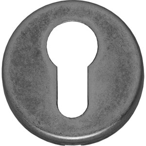 PC-plaatje rond verdekt kunststof oud grijs