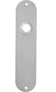 Schild Ovaal Plat WC57/5 mm RVS