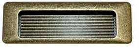Infreesgreep brons 31 x 90 mm