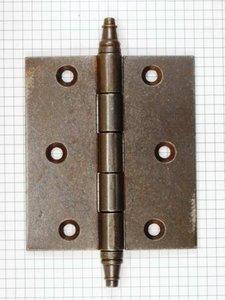 Deurscharnier 100 x 89 mm, ijzer geroest