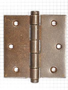 Deurscharnier 89 x 89 mm ijzer geroest (vlakke kop)