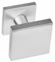 Voordeurknop vierkant rvs