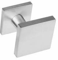 Voordeurknop vierkant verkropt rvs