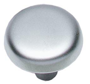 Knop Plat 28 mm Chroom Mat