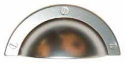 Komgreep Nikkel Mat 64 mm