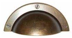 Komgreep Brons Antiek Donker 64 mm