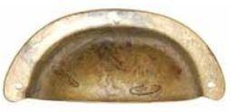 Komgreep Koper Brons Antiek 75 mm